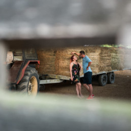 Velika Gorica, couple relaxing on a haystack