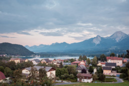 Villach wedding photographer, landscape shot of austrian Alps from my bedroom window in hotel