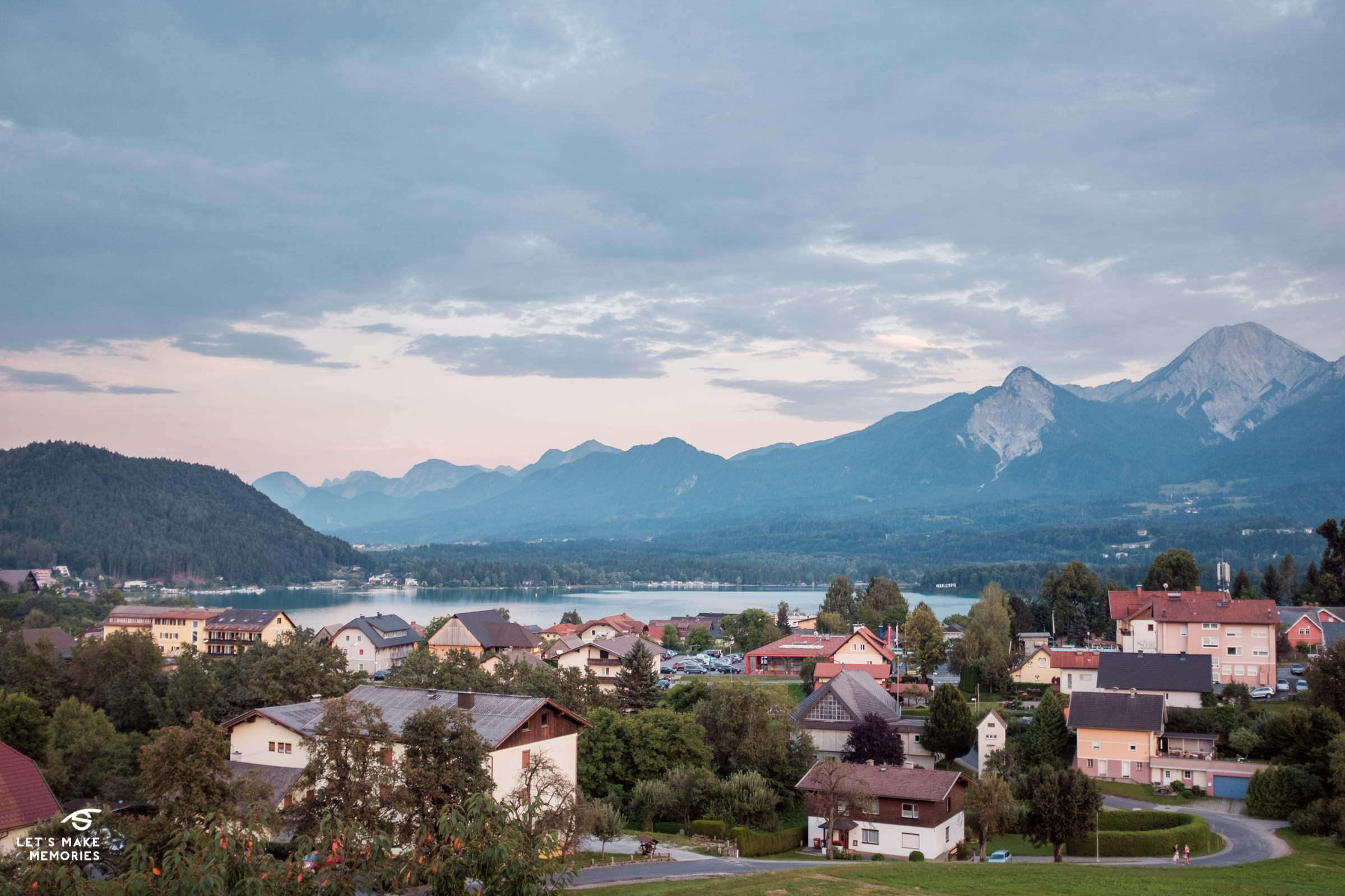 landscape shot of austrian Alps from my bedroom window in hotel