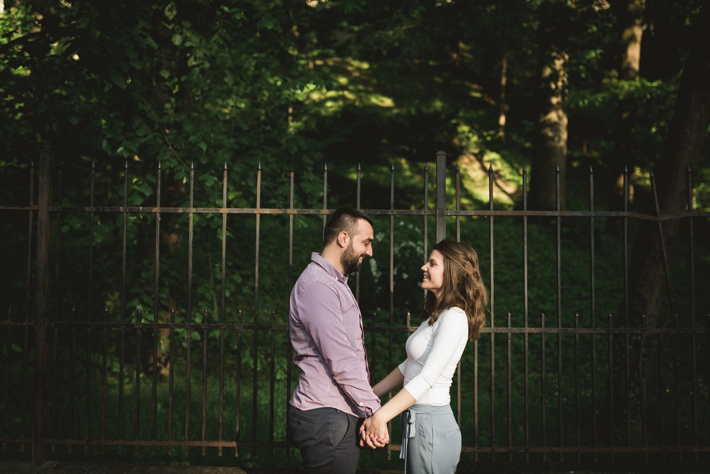 couple facing each other on Tuškanac park