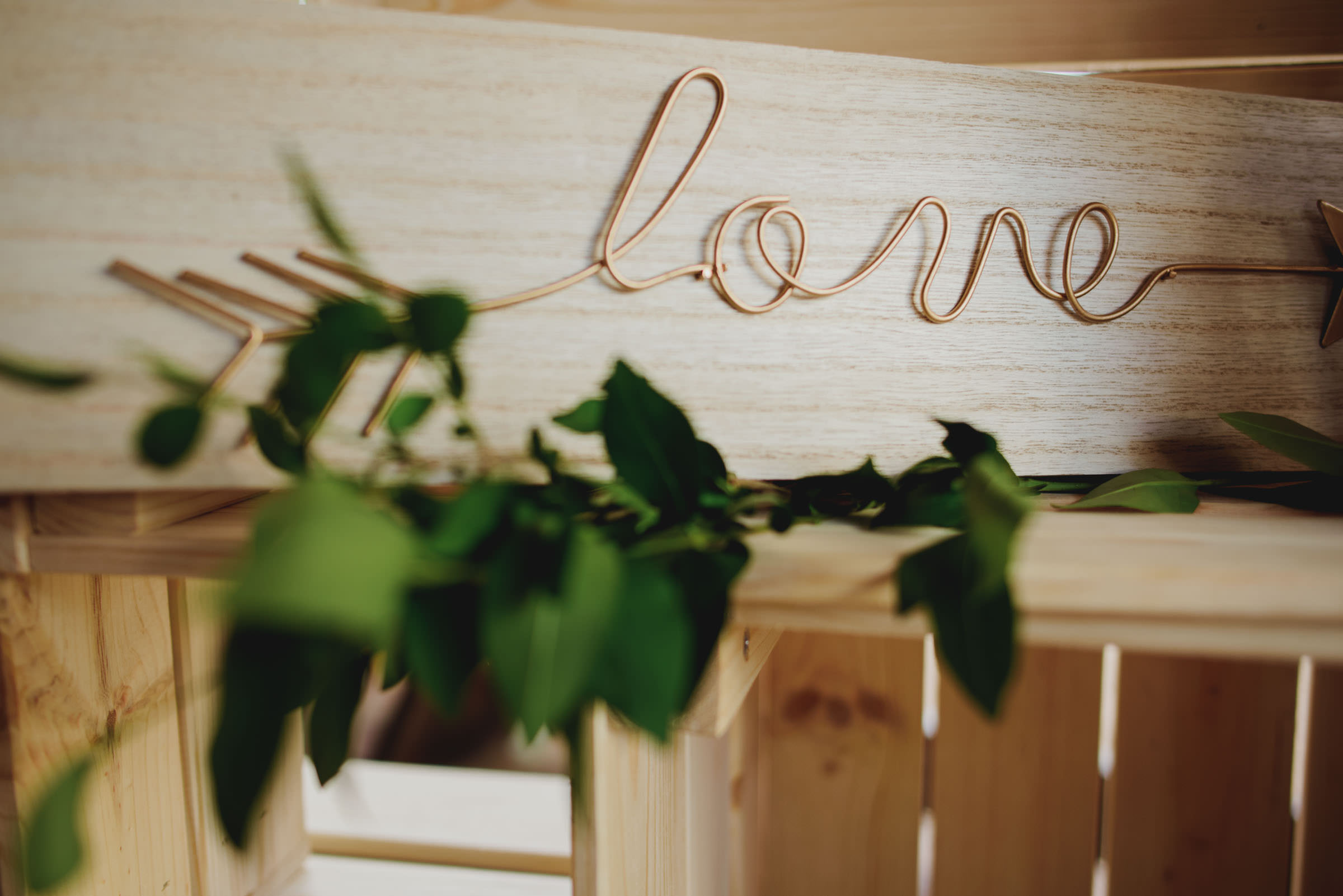 handmade wooden love sign