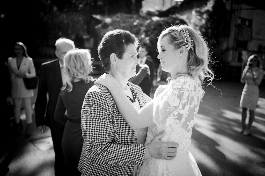 bride and her mother after ceremony