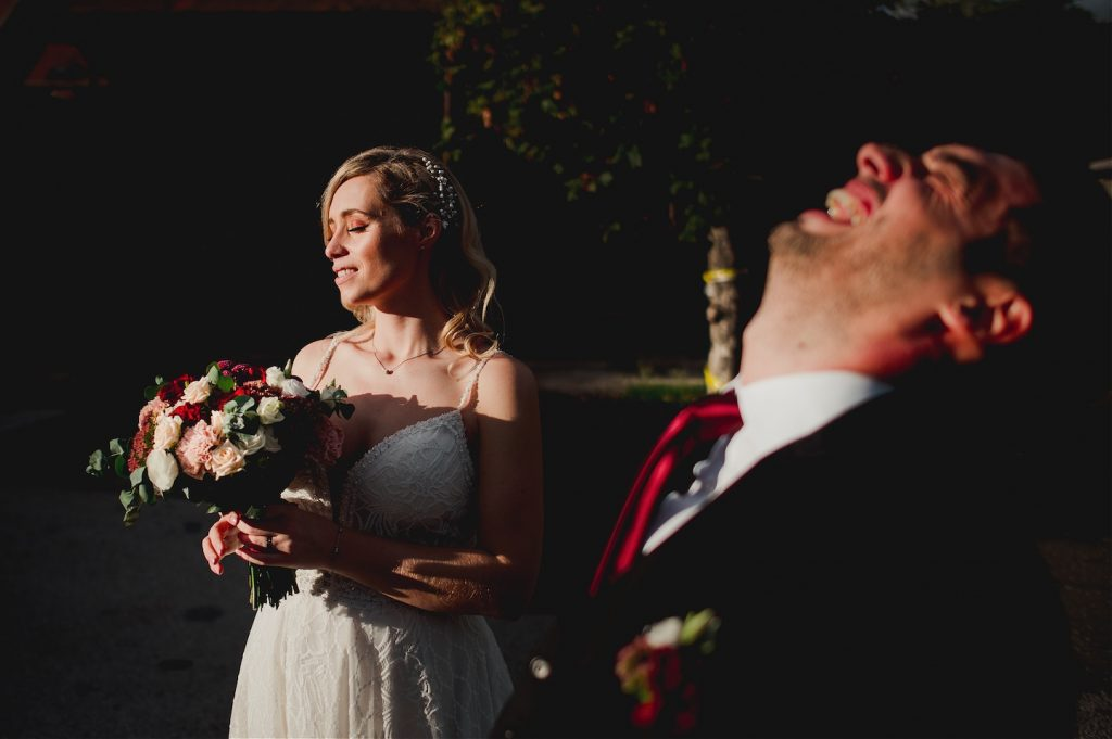 bride and groom photo session juxtaposition image light vs dark